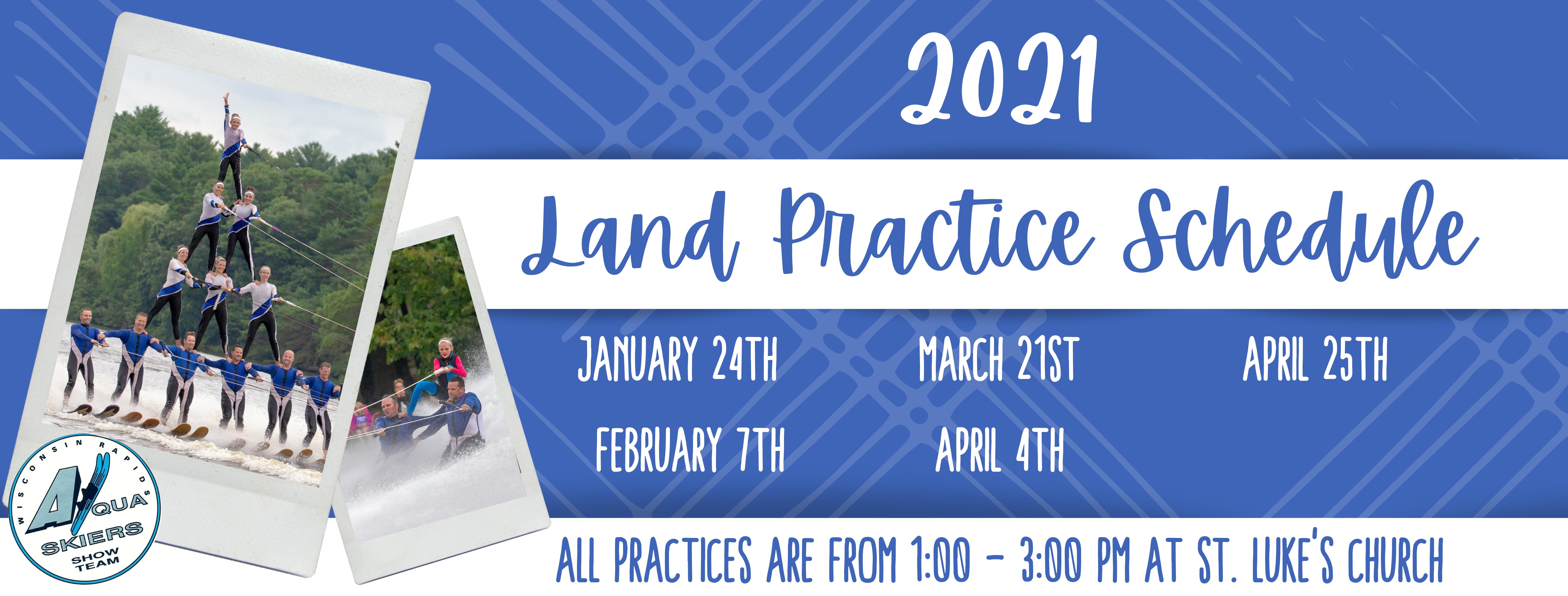 2021 Land Practice Schedule -2